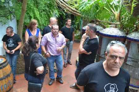 Parte del grupo despues de comer en el Chipi Chipi. Día 27/08/2.013