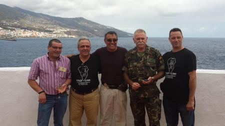 Manolo, José M. Arcas. Sgto. Castillo, Capitan Mosquera Y José R. Costa.